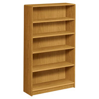 HON 1895C 1890 Series Harvest 5 Shelf Laminate Wood Bookcase - 36 inch x 11 1/2 inch x 60 1/8 inch