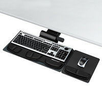 Fellowes 8036001 Professional Premier Series 19 inch x 10 5/8 inch Black Adjustable Keyboard Tray