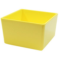 Tablecraft M4024Y Contemporary Melamine Collection 32 oz. Yellow Straight Sided Bowl - 5 inch x 5 inch x 3 inch