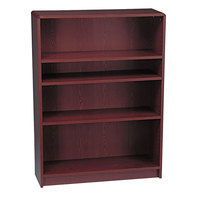 HON 1894N 1890 Series Mahogany 4 Shelf Laminate Wood Bookcase - 36 inch x 11 1/2 inch x 48 3/4 inch