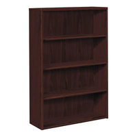 HON 105534NN 10500 Series Mahogany 4 Shelf Laminate Wood Bookcase - 36 inch x 13 1/8 inch x 57 1/8 inch
