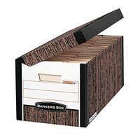 Fellowes 00051 Banker's Box Systematic 24 inch x 12 1/8 inch x 10 inch Woodgrain Medium Duty Letter File Storage Box - 12/Case