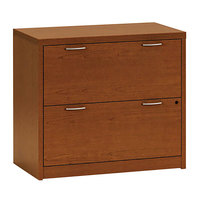HON 11563ACHH 11500 Series Bourbon Cherry Valido Two-Drawer Lateral Filing Cabinet - 36 inch x 20 inch x 29 1/2 inch