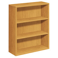HON 105533CC 10500 Series Harvest 3 Shelf Laminate Wood Bookcase - 36 inch x 13 1/8 inch x 43 3/8 inch