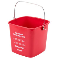 San Jamar KP97RD 3 Qt. Red Sanitizing Kleen-Pail