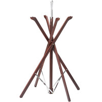 Tablecraft 335W Fold-A-Way 35 inch Mahogany Wood Tray Stand