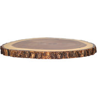 Tablecraft ACARD1212 12 inch Acacia Wood Round Serving Board