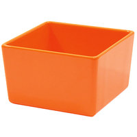 Tablecraft M4024X Contemporary Melamine Collection 32 oz. Orange Straight Sided Bowl - 5 inch x 5 inch x 3 inch