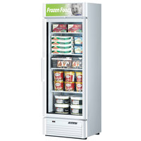Turbo Air TGF-15SD White 27 inch Super Deluxe Glass Door Merchandising Freezer