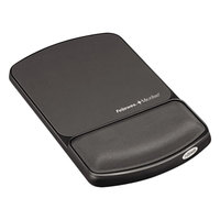 Fellowes 917510 Graphite / Black Mouse Pad with Gel Wrist Support and Microban Protection