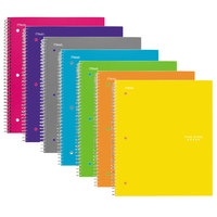 Five Star 06112 Trend Wirebound Assorted Color 11 inch x 8 1/2 inch College Ruled 5 Subject Notebook - 200 Sheets