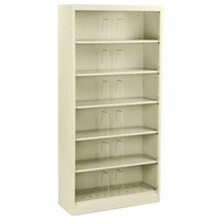 HON 626NL 600 Series Putty Six-Shelf Open Filing Cabinet - 36 inch x 13 3/4 inch x 75 7/8 inch
