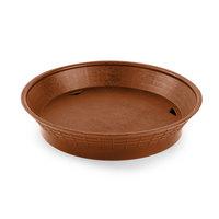 Tablecraft 157510TC 10 1/2 inch Terra Cotta Plastic Diner Platter / Fast Food Basket with Base - 12 / Pack