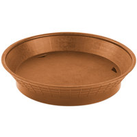 Tablecraft 157510TC 10 1/2 inch Terra Cotta Plastic Diner Platter / Fast Food Basket with Base - 12/Pack