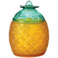 GET SW-1410 Cheers 20 oz. Pineapple SAN Plastic Glass with Lid - 24/Case