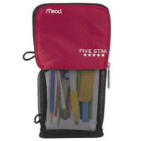 Mead 73991 4 1/2 inch x 8 inch Red Stand 'N Store Pencil Pouch
