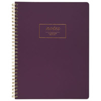 Cambridge 49556 Fashion Casebound Purple 9 1/2 inch x 7 1/4 inch Legal Ruled Business Notebook - 80 Sheets