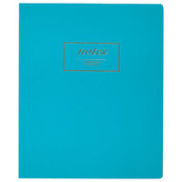 Cambridge 49550 Fashion Casebound Teal 11 inch x 9 inch Legal Ruled Business Notebook - 80 Sheets