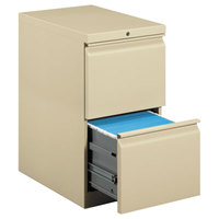 HON 33823RL Efficiencies Putty Two-Drawer Mobile Pedestal Filing Cabinet - 15 inch x 22 7/8 inch x 28 inch