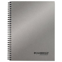 Cambridge 45007 Sidebound Silver 9 1/2 inch x 7 1/4 inch Legal Ruled Business Notebook - 80 Sheets