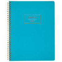 Cambridge 49587 Fashion Twinwire Teal 9 1/2 inch x 7 1/4 inch Legal Ruled Business Notebook - 80 Sheets