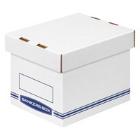Fellowes 4662101 Banker's Box 5 1/2 inch x 6 3/4 inch x 6 inch Small White Storage Box with Lid - 12/Case