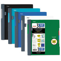 Five Star 06324 Advance Wirebound Assorted Color 11 inch x 8 1/2 inch College Ruled 3 Subject Notebook - 150 Sheets