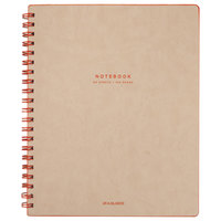 At-A-Glance YP14107 Collection Twinwire Tan / Red 11 inch x 8 3/4 inch Legal Ruled Notebook - 80 Sheets