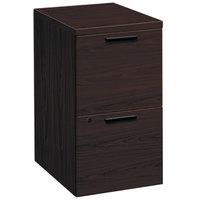 HON 105104NN 10500 Series Mahogany Two-Drawer Mobile Pedestal Filing Cabinet - 15 3/4 inch x 22 3/4 inch x 28 inch