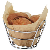 Clipper Mill by GET 4-22780 Wire Baskets Chrome Plated Metal Round Bucket Basket - 5 3/8 inch x 3 inch