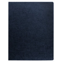 Fellowes 52113 11 1/4 inch x 8 3/4 inch Navy Linen Texture Binding System Cover - 200/Pack