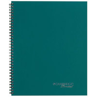 Cambridge 45006 Sidebound Teal 9 1/2 inch x 7 1/4 inch Legal Ruled Business Notebook - 80 Sheets