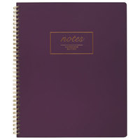 Cambridge 49567 Fashion Twinwire Purple 11 inch x 9 inch Legal Ruled Business Notebook - 80 Sheets