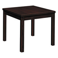 HON 80192NN Occasional 24 inch x 24 inch x 20 inch Mahogany Laminate Square Table