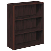 HON 10753NN 10700 Series Mahogany 3 Shelf Laminate Wood Bookcase - 36 inch x 13 1/8 inch x 43 3/8 inch
