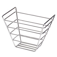 Clipper Mill by GET 4-22089 Wire Baskets Square Chrome Plated Metal Stackable Basket - 7 1/2 inch x 7 1/2 inch x 6 inch
