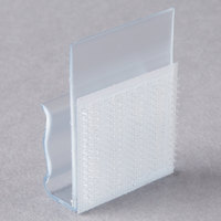 Snap Drape VTC Clear Plastic Table Skirt Clip with Velcro® Attachment - 100/Bag