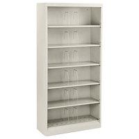 HON 626NQ 600 Series Light Gray Six-Shelf Open Filing Cabinet - 36 inch x 13 3/4 inch x 75 7/8 inch