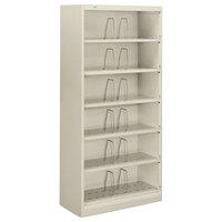HON 626CNQ 600 Series Light Gray Six-Shelf Open Filing Cabinet - 36 inch x 16 3/4 inch x 75 7/8 inch