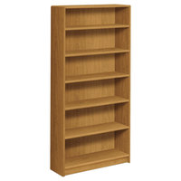 HON 1896C 1890 Series Harvest 6 Shelf Laminate Wood Bookcase - 36 inch x 11 1/2 inch x 72 5/8 inch