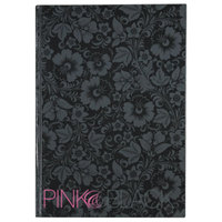 Mead 400015934 Casebound Black 11 5/8 inch x 8 1/4 inch Ruled Notebook - 96 Sheets