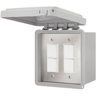 Schwank JM-4325-XX 2 Stage Surface Mount Patio Heater Control with Weatherproof Cover for Two Heaters