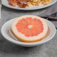 World Tableware 840-320-020 Porcelana 10 oz. Bright White Porcelain Grapefruit Bowl - 36/Case