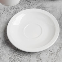 World Tableware 840-245-107 Porcelana 4 3/4 inch Bright White Porcelain AD Saucer - 36/Case