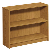 HON 1871C 1870 Series Harvest 2 Shelf Laminate Wood Bookcase - 36 inch x 11 1/2 inch x 29 7/8 inch