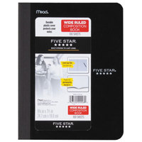 Five Star 09006 Black 9 3/4 inch x 7 1/2 inch 1 Subject Composition Notebook - 100 Sheets