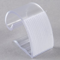 Snap Drape KV100 Clear Plastic Table Skirt Clip with Velcro® Attachment - 100/Bag