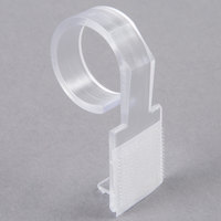 Snap Drape DV Clear Plastic Table Skirt Clip with Velcro® Attachment - 100/Bag
