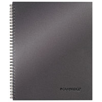 Cambridge 06328 Wirebound Titanium 11 inch x 9 1/4 inch Legal Ruled Business Notebook - 80 Sheets