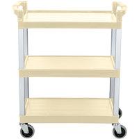 Continental 5810BE 16 inch x 31 inch x 36 inch Beige Three Shelf Utility Cart